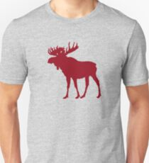 Moose: Rustic Red Unisex T-Shirt