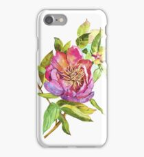 Flowers watercolor illustration. iPhone Case/Skin