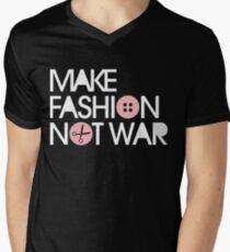 MAKE FASHION NOT WAR Men's V-Neck T-Shirt