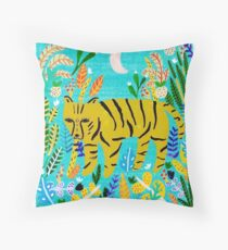 Tiger In The Jungle Throw Pillow