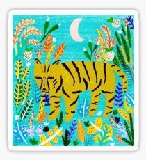 Tiger In The Jungle Sticker