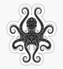 Intricate Dark Octopus Sticker