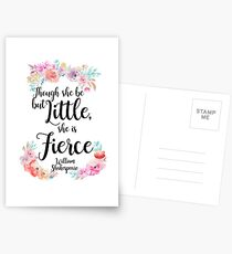 Though she be floral print Postcards