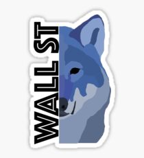 Wall Street Wolf Sticker