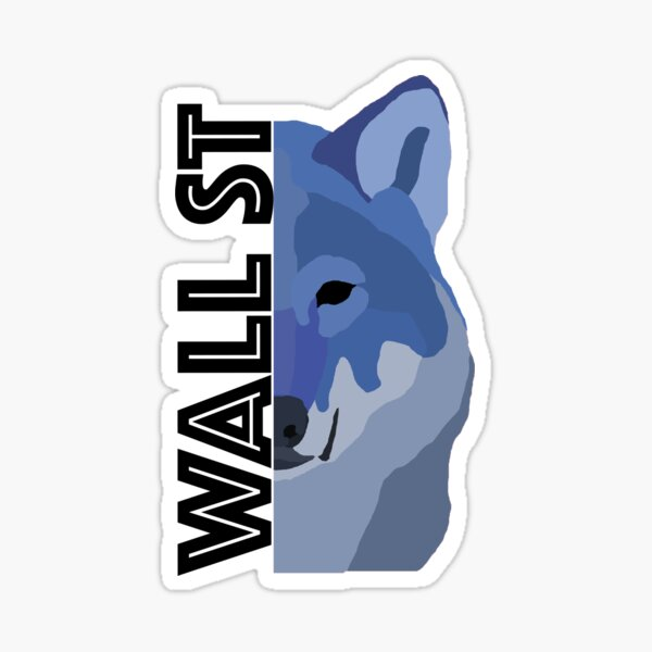 Wall Street Wolf Sticker