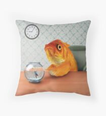 A Fish Out of Water Throw Pillow