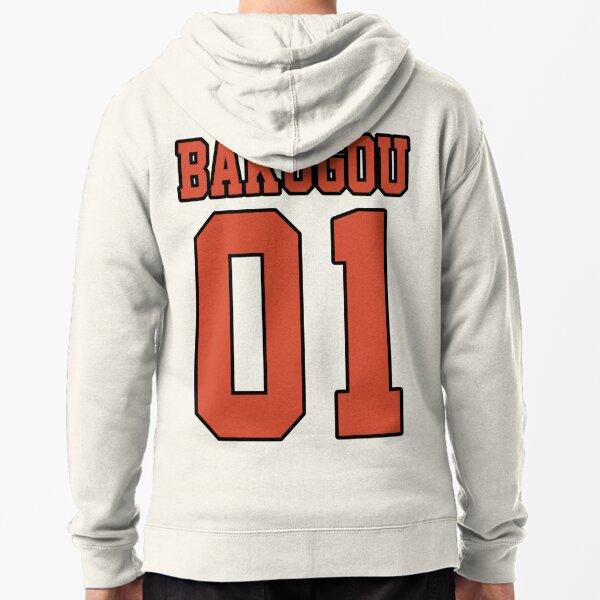 Bakugou Sport Jersey Sudadera con capucha y cremallera