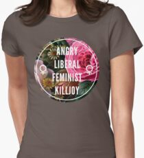 Angry Liberal Feminist Killjoy Women's Fitted T-Shirt