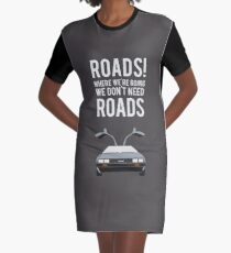 Back to the Future - Roads Graphic T-Shirt Dress