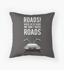 Back to the Future - Roads Throw Pillow