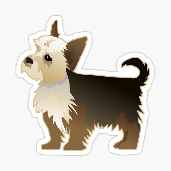 Yorkie Dog Breed Illustration Silhouette Sticker