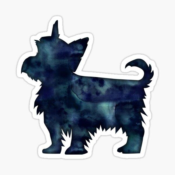 Yorkie Dog Breed Black Watercolor Silhouette Sticker