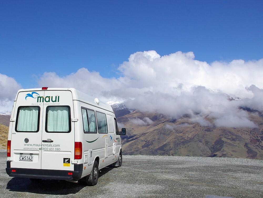 Lookout towards Queenstown, New Zealand. by Geoff46