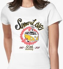 Summer of Love 50th Anniversary Womens Fitted T-Shirt