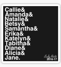 Lady Parts 2016-17 Team List Sticker
