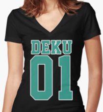 Deku Sport Jersey Women's Fitted V-Neck T-Shirt