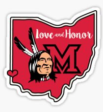 Miami Redskins – Love and Honor  Sticker