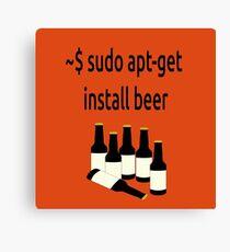 Linux sudo apt-get install beer Canvas Print
