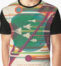 Retro Space Poster - Die große Tour Grafik T-Shirt