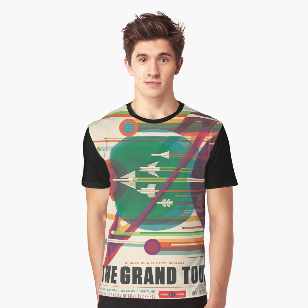 Retro Space Poster - The Grand Tour Graphic T-Shirt