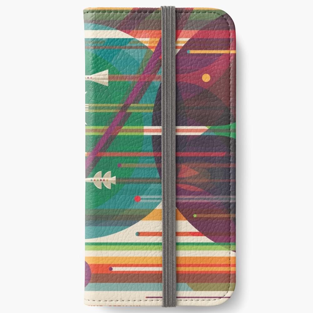 Retro Space Poster - Die große Tour iPhone Flip-Case