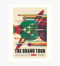 Retro Space Poster - The Grand Tour Art Print