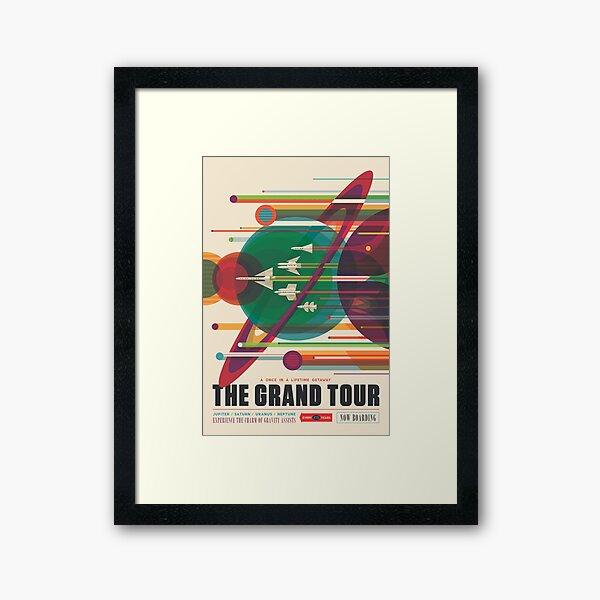 Retro Space Poster - The Grand Tour Framed Art Print