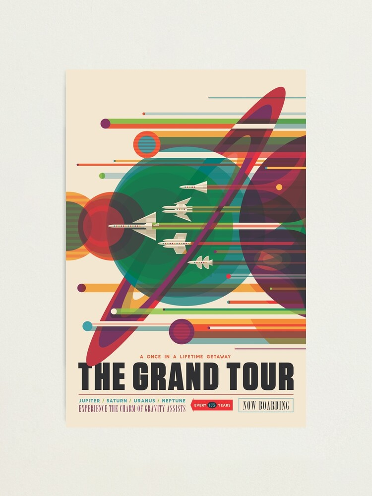 Alternate view of Retro Space Poster - The Grand Tour Photographic Print