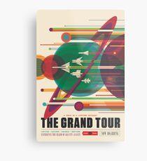 Retro Space Poster - Die große Tour Metallbild