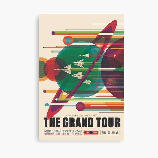 Retro Space Poster - The Grand Tour Canvas Print