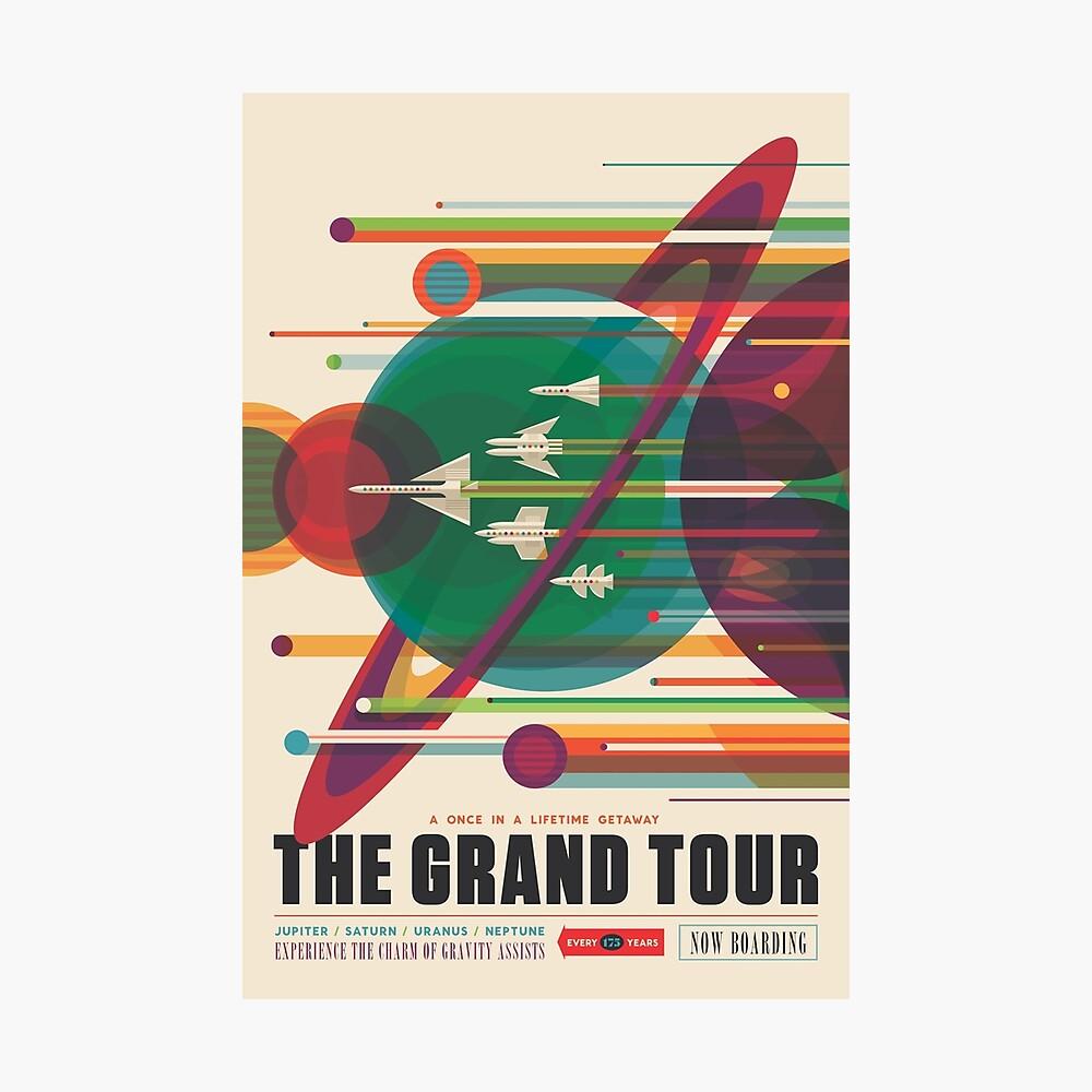 Retro Space Poster - Die große Tour Fotodruck