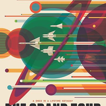 Retro Space Poster - The Grand Tour by whitneykayc