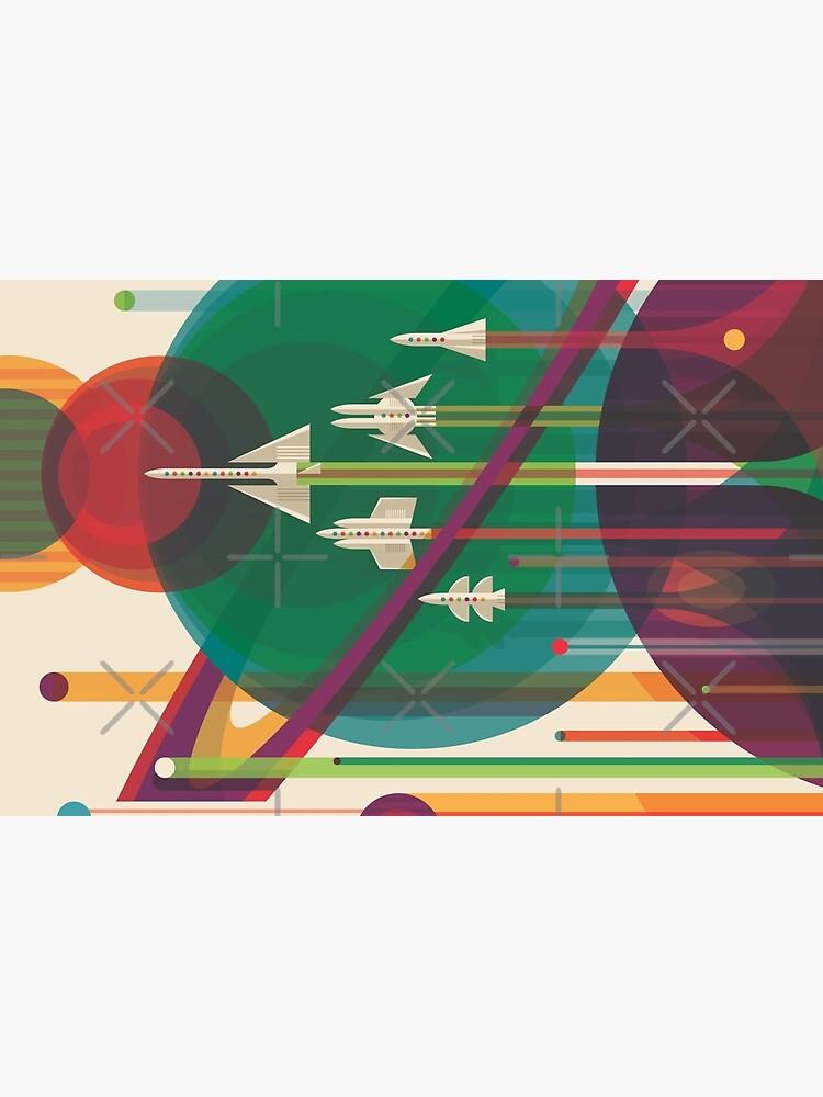 Retro Space Poster - Die große Tour von whitneykayc