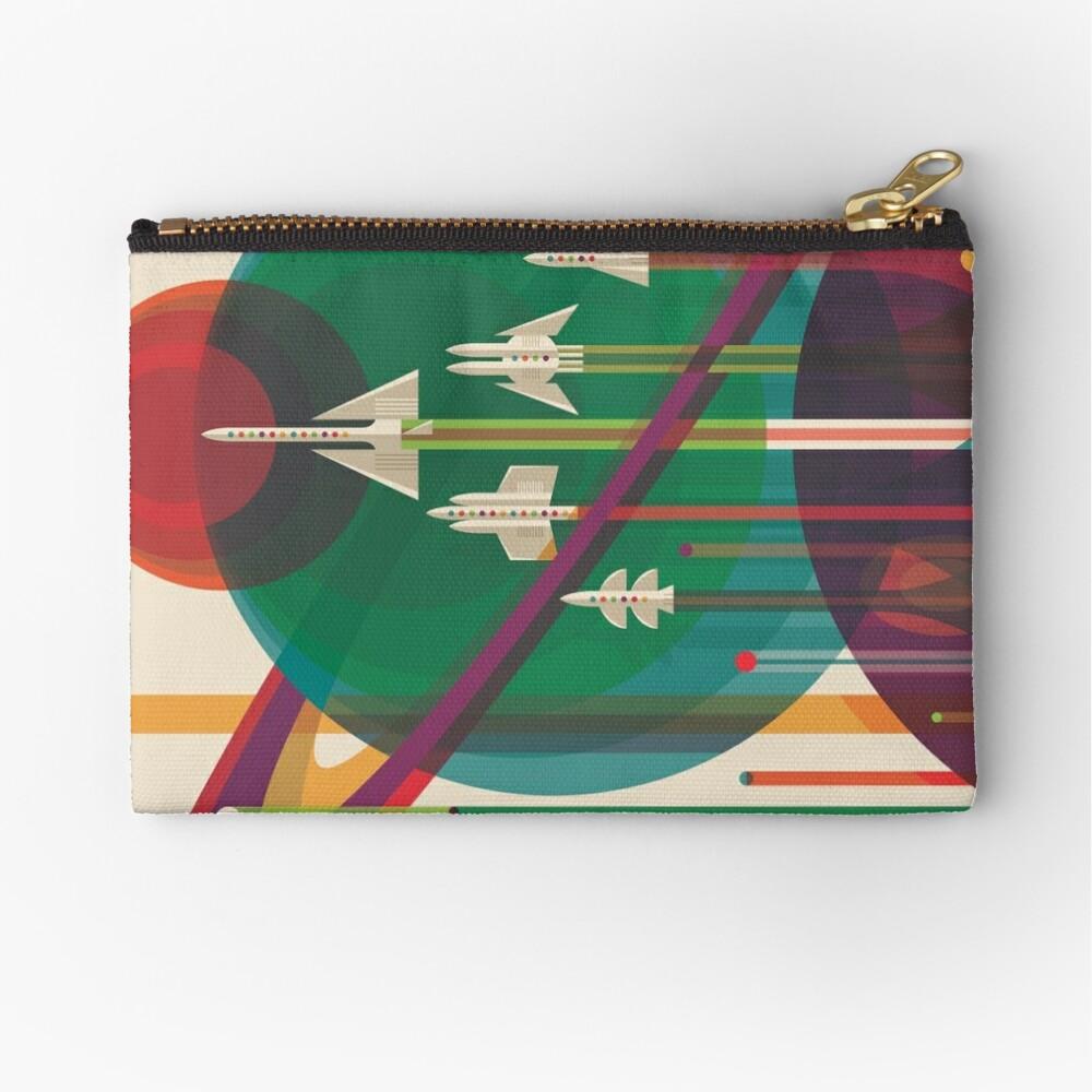 Retro Space Poster - Die große Tour Täschchen