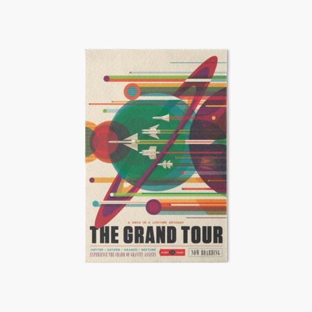 Retro Space Poster - The Grand Tour Art Board Print