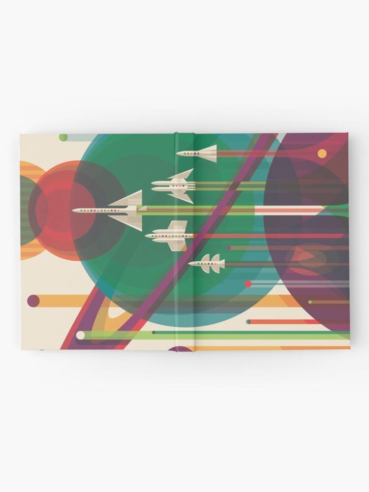 Alternative Ansicht von Retro Space Poster - Die große Tour Notizbuch