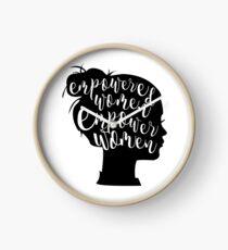 Reloj Las mujeres empoderadas empoderan a las mujeres