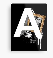 A IS FOR ART Metal Print