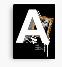 A IS FOR ART Canvas Print