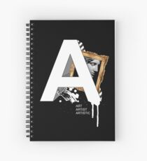A IS FOR ART Spiral Notebook