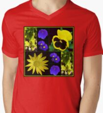Bright and Beautiful Floral Collage Mens V-Neck T-Shirt
