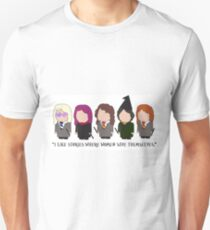 I Like Stories Where Women Save Themselves Unisex T-Shirt