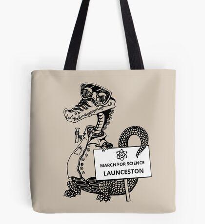 March for Science Launceston – Crocodile, black Tote Bag