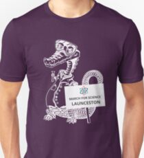March for Science Launceston – Crocodile, white T-Shirt