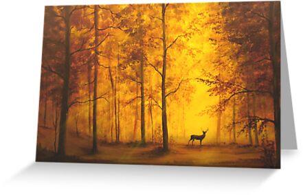 Autumn Deer by William  Boyer