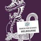 March for Science Melbourne – Crocodile, white by sciencemarchau