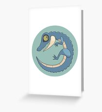 Round Reptile Greeting Card