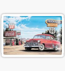 Route 66 Chevy Belair Sticker Sticker