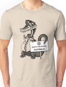 March for Science Australia – Crocodile, black Unisex T-Shirt