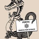 March for Science Perth – Crocodile, black by sciencemarchau